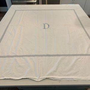 Pottery Barn D monogrammed shower curtain.